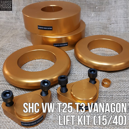 "SHC VW T25 T3 Vanagon LIFT KIT (15/40) 2"" Plus Lift"