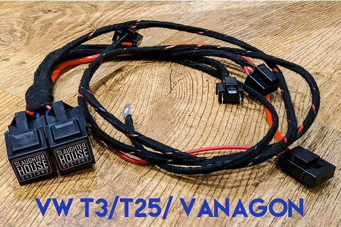 SHC VW T25 T3 Vanagon Round Headlight Relay, Wiring Loom, Upgrade (Petrol