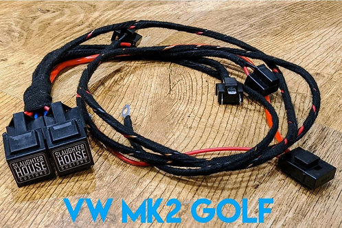 SHC VW Mk 2 Golf Headlight Relay, Wiring Loom, Upgrade