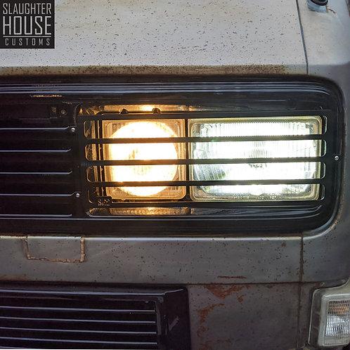 VW T25 T3 Vanagon SHC Square Head Light Guards. (Pair)