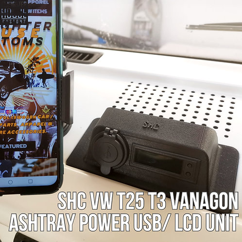 SHC VW T25 T3 Vanagon Ashtray Power USB/ LCD Unit