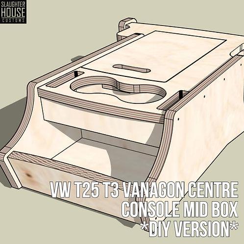 VW T25 T3 Vanagon Centre Console Mid Box *DiY VERSION*