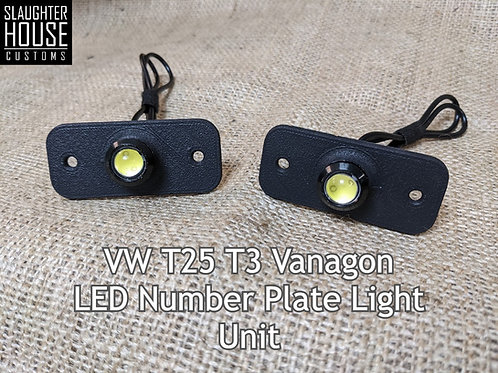 SHC T25 T3 Vanagon Number Plate Light Upgrade Unit (PAIR)