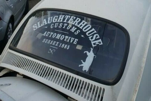 Slaughter House Customs, SHC, Rear Window Decal