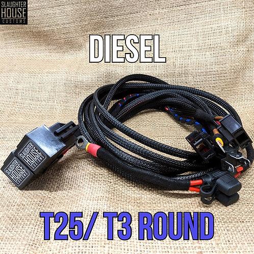SHC VW T25 T3 Vanagon Round Headlight Relay, Wiring Loom, Upgrade (Diesel)