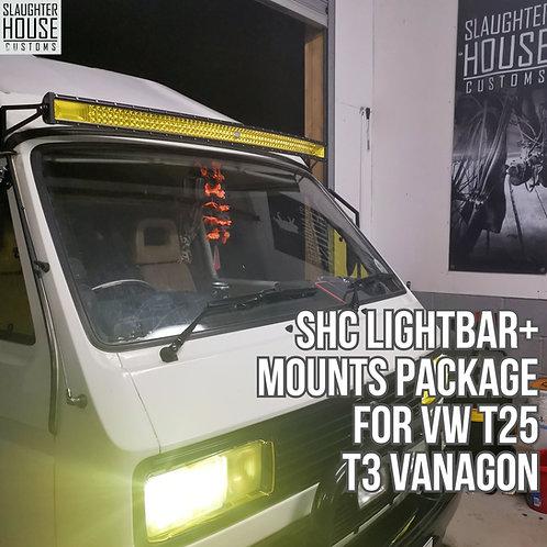 SHC Light Bar + Mounts Package for VW T25 T3 Vanagon