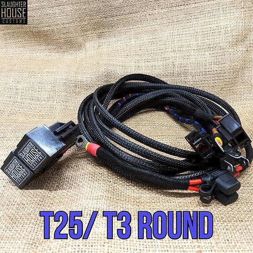 SHC VW T25 T3 Vanagon Round Headlight Relay, Wiring Loom, Upgrade (Petrol