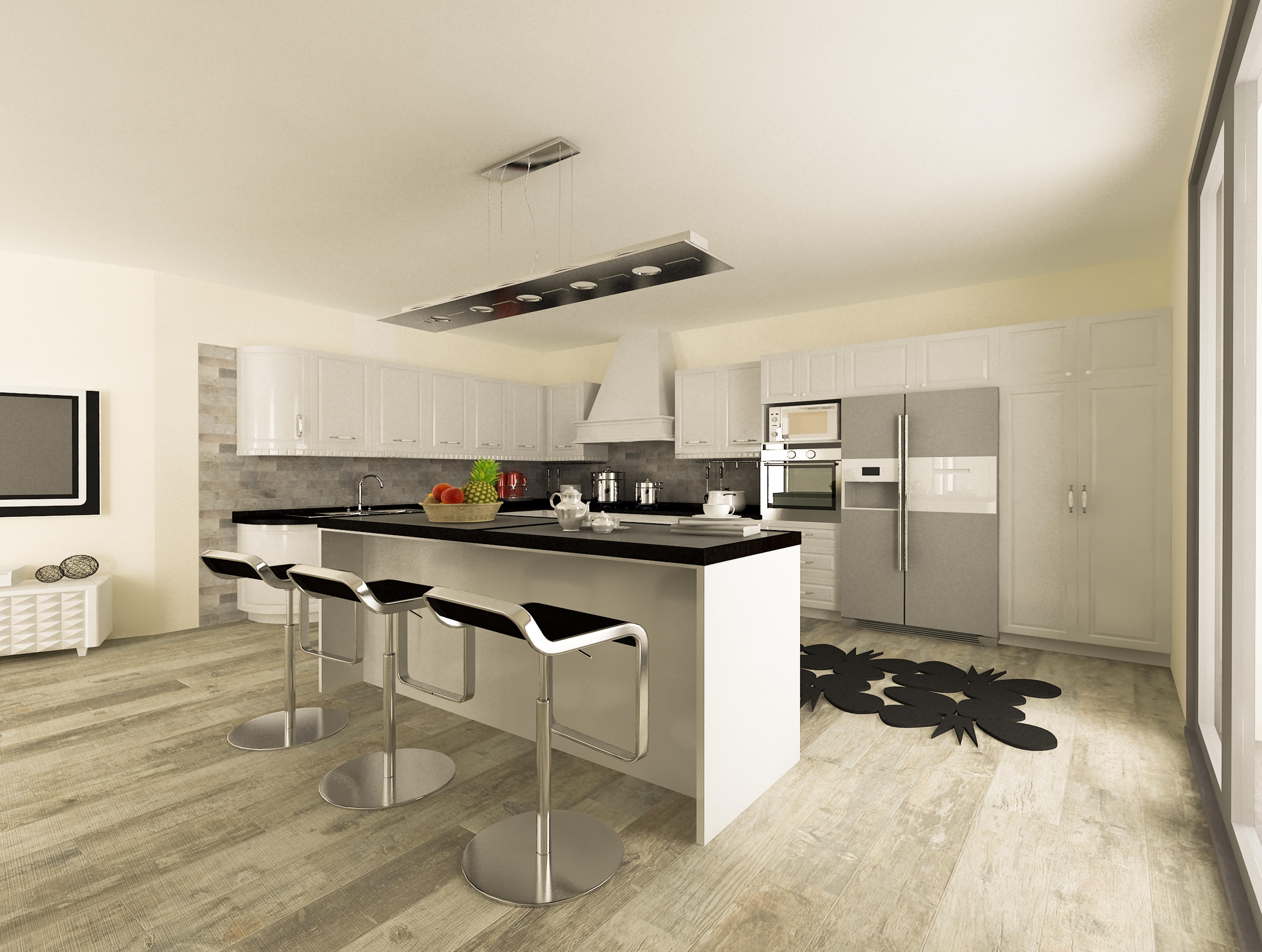 Render cucina - AplusP