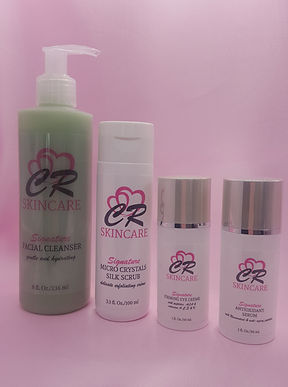 CRS Signature 4 products pink background