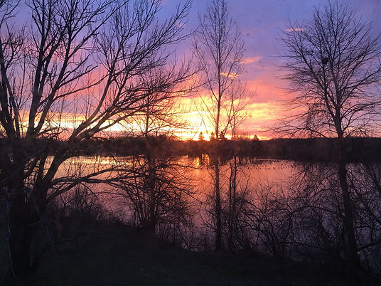 Sunrise over Lake Alice, Lakeview Medical Clinic, 2020