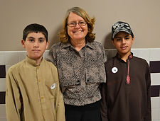 Project Life Director Linda Redfield visited Albion Elementary School today with Jahan Zib and Nasratullah