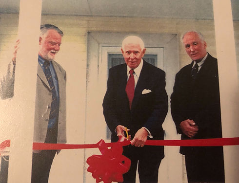 Opening of Lakeview Medical Office, Dr. David Bell, WLI founding Board member, Bob Waters, representing New York State Senator George Maziarz, and Dr. Asaf Durakovic