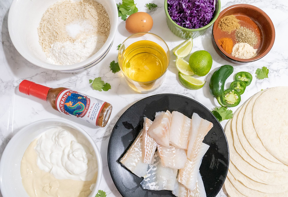 vatsanas seafood hot sauce ingredients fried fish taco cod tortilla jalapenos lime spices beer battered mint cilantro