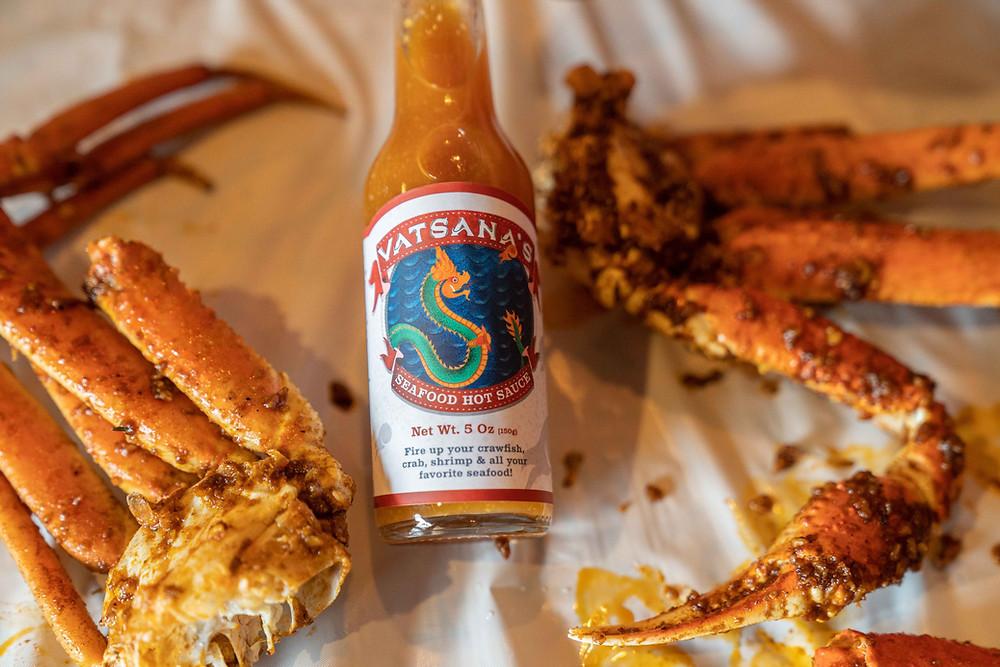 vatsanas seafood hot sauce boil shellfish alaskan snow crabs adventurous