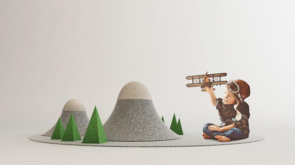Mountain Children's play mat | Studio Nicolas Abdelkader - Design | Nature | Architecture