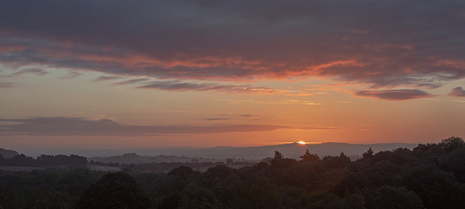 Sunrise over Clent Hills