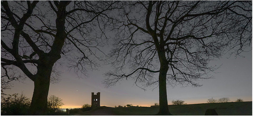 Broadway Tower Silhouette