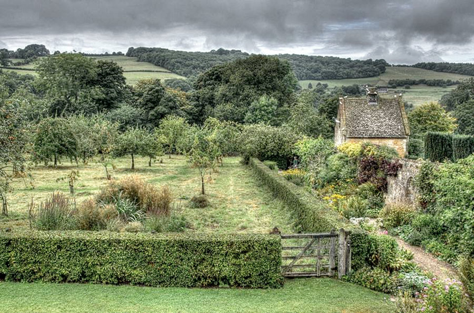 Field and cottage