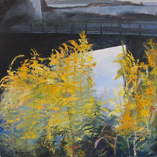 Goldenrod by the Bridge, East Blue Hill.