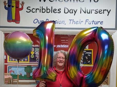 Happy 10th Birthday Scribbles!!