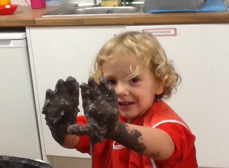 The importance of messy and sensory play!