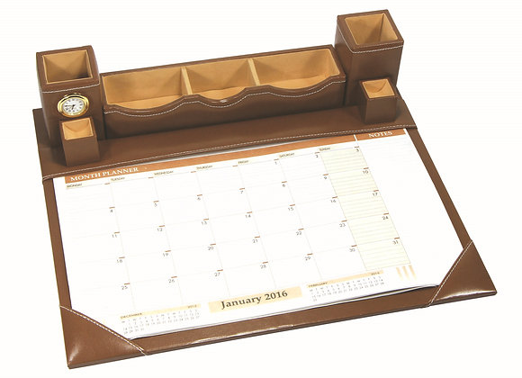 PF-9750(TABLE PLANNER WITH CLOCK)SIZE:(18*15)INCH