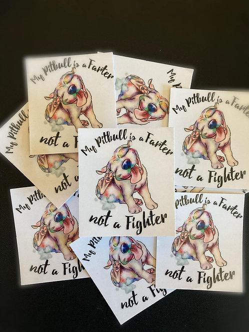 My Pitbull is a Farter Sticker
