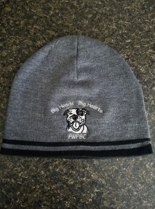 3bbb863a00c29 Warm and cozy, these beanie hats allow you to show your support for FWPBC  in the cooler months. They feature the Big Heads Big Hearts logo.