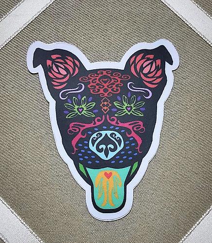 Sugar Skull Outdoor/Indoor Sticker