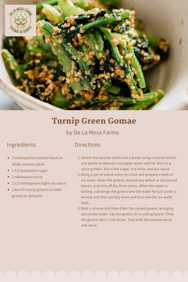 Turnip Green Gomae Card.png