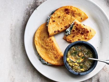 Crispy Kale Ricotta Tacos