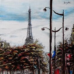 Du haut du boulevard Pasteur. Paris