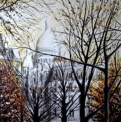 Les arbres de la Place d'Anvers - Paris.