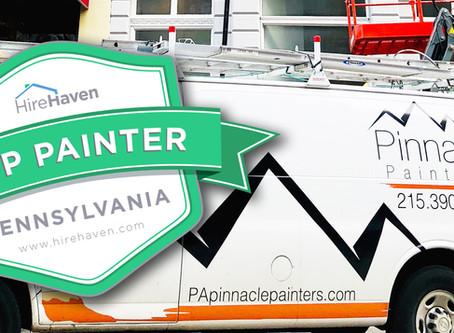 Pinnacle House Painters - HireHaven's Top Pennsylvania Painter Award 2019