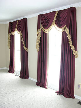 BOARD MOUNTED SWAGS (SHOWN WIT JABOTS AND DRAPES)