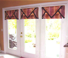 TRIANGLE OVERLAYS (SHOWN WITH FLAT ROMAN SHADES)