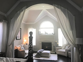 ARCH DRAPES SHOWN WITH GROMMET DRAPES