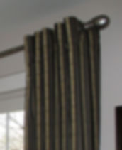 FLAT DRAPES HUNG WITH HIDDEN TABS (LOOK BEST WHEN NON-FUNCTIONING)