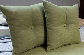 SQUARE PILLOWS WITH CENTER BUTTONS