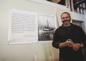 Chris Chase, project manager of the restoration process