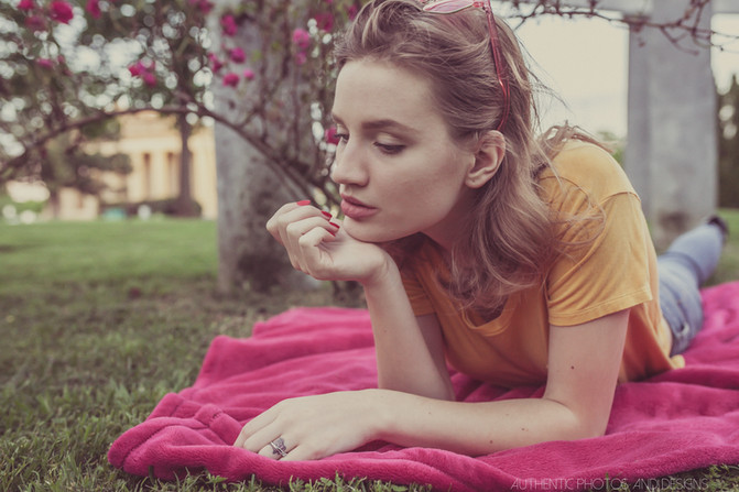 Rosy spring editorial with model Ariah Hedin