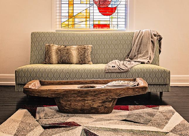 Original repurposed click clack sofa