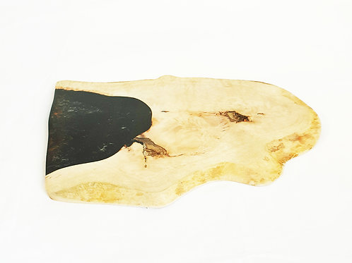 Wooden and resin board black