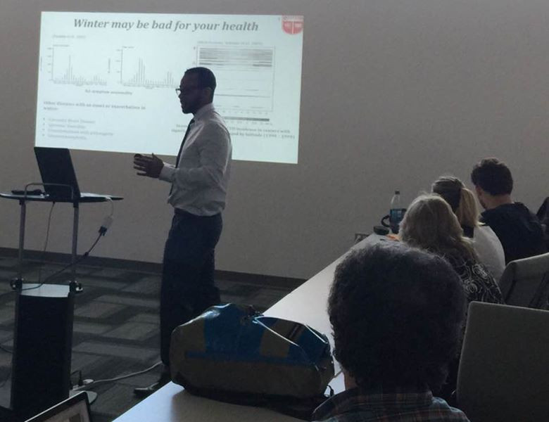Congratulations to Dr. Kamau Pierre, latest PhD from our group. Excellent work on seasonality and immune response. He is off to a great career at Sanofi !