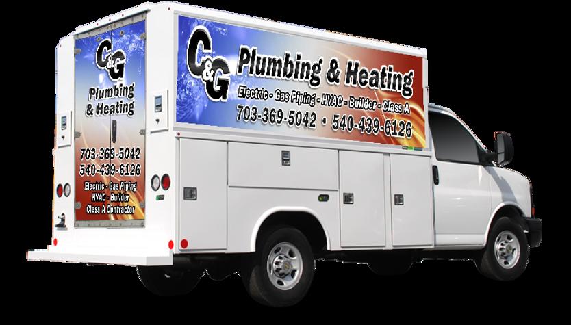 C&G Plumbing work truck