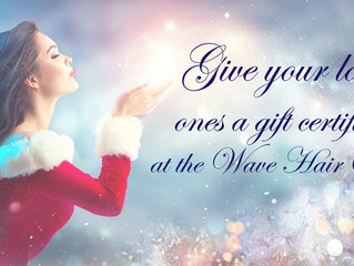 THE GREAT HOLIDAY TREAT   -  Gift Certificate from THE WAVE HAIR SALON