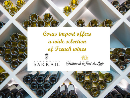 Corus import offers a wide selection of French wines