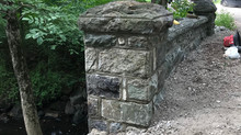Stone pillar repair in Kinnelon, NJ