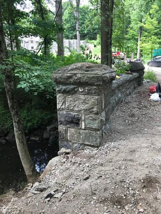 Stone pillar repair in Kinnelon, NJ
