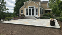 Masonry work in Morristown. Backyard renovation.